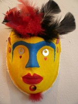 Adult art studio mask with feathers.jpg
